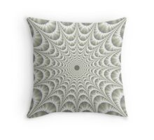 Quilted Web in White Throw Pillow
