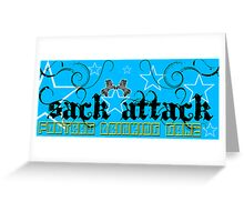 Sack Attack Banner Greeting Card