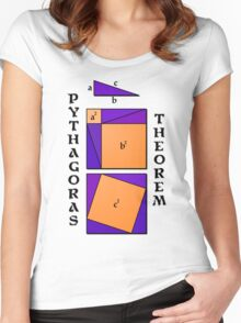 Pythagoras Theorem geometrical proof Women's Fitted Scoop T-Shirt