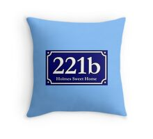 221b - Holmes Sweet Home Throw Pillow