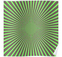 3D Room - Green On Purple Poster