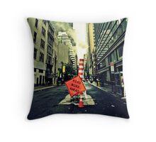 Road Work Manhattan Throw Pillow
