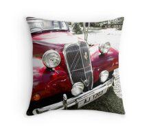 Car Vintage Citroen Red Throw Pillow