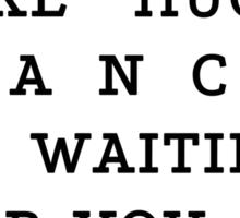 RUN - Hugh Dancy Sticker