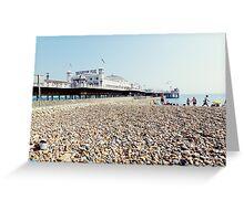 Brighton Beach and Pier Greeting Card