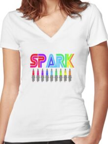 SPARK colour Women's Fitted V-Neck T-Shirt