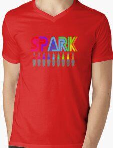 SPARK colour Mens V-Neck T-Shirt