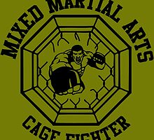 MMA Mixed Martial Arts Cage Fighter by 108dragons