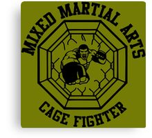 MMA Mixed Martial Arts Cage Fighter Canvas Print