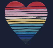 Big Heart Rainbow Kids Tee