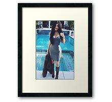 Kylie Jenner Poolside 2 Framed Print