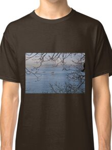 Moored Yacht in Carrick Roads Cornwall Classic T-Shirt