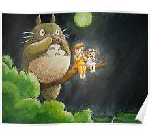 Moonlight Music with Totoro - My Neighbor Totoro Poster