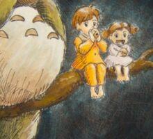 Moonlight Music with Totoro - My Neighbor Totoro Sticker