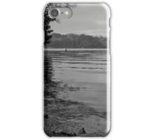 Tranquil River Fal in Black and White iPhone Case/Skin