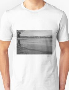 Tranquil River Fal in Black and White T-Shirt