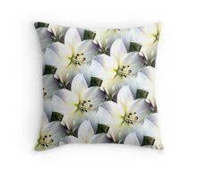 Multi Lilies Throw Pillow