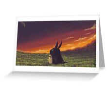 Sunset on Totoro Hill - My Neighbor Totoro Greeting Card