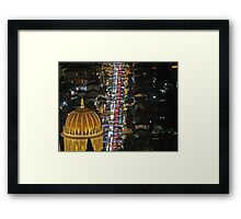 Israel, Haifa, The city is lit up with Christmas decorations Framed Print