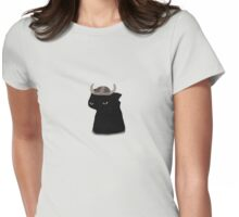 Toothless With Hiccup's Helmet Womens Fitted T-Shirt