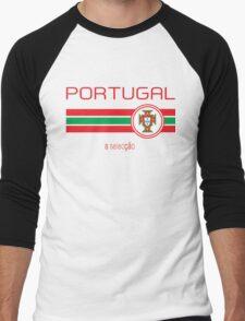 Euro 2016 Football - Portugal (Away White) Men's Baseball ¾ T-Shirt