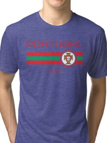 Euro 2016 Football - Portugal (Away White) Tri-blend T-Shirt