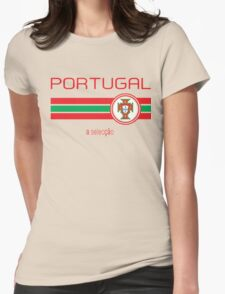 Euro 2016 Football - Portugal (Away White) Womens Fitted T-Shirt