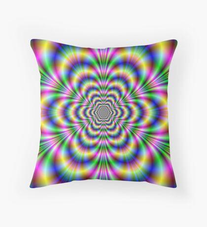 Psychedelic Hexagon Throw Pillow