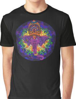Ganesha Psychedelic Art Graphic T-Shirt