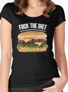 FUCK THE DIET-WHITE Women's Fitted Scoop T-Shirt