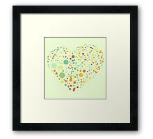 Green Valentine's Hearts Framed Print