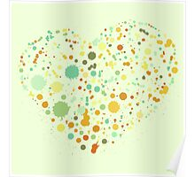 Green Valentine's Hearts Poster