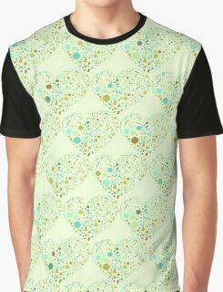 Green Valentine's Hearts Graphic T-Shirt