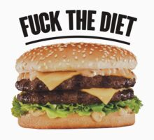 FUCK THE DIET-BLACK by pinkboy