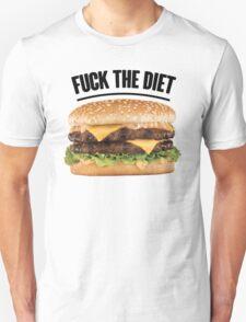 FUCK THE DIET-BLACK Unisex T-Shirt