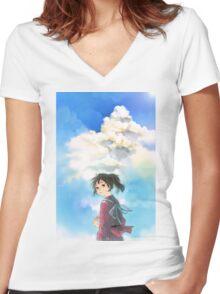 Chihiro - Spirited Away Women's Fitted V-Neck T-Shirt