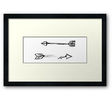 Arrows Doodle Framed Print