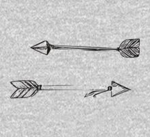 Arrows Doodle One Piece - Long Sleeve