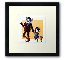 Father and Daughter Time Framed Print