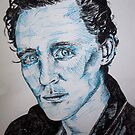 Tom Hiddleston portrait using pen by Sarah Horsman