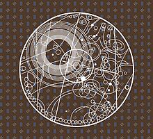 Ten Tie Gallicush - Brown (Circular) by ifourdezign