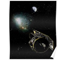 Earth, a Milky Way object, and the Spitzer Space Telescope. Poster