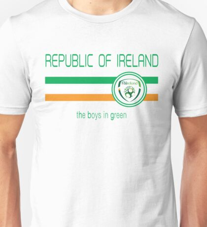 Euro 2016 Football - Republic of Ireland (Away White) Unisex T-Shirt