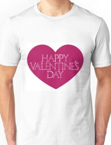 Valentine's Heart with Greeting:) Unisex T-Shirt