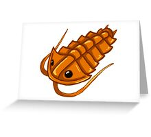 Gold Trilobite Greeting Card