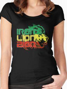 Reggae Rasta Iron, Lion, Zion Women's Fitted Scoop T-Shirt