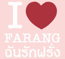 I Love (Heart) Farang One Piece - Long Sleeve