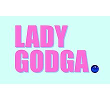 LADY GODGA Photographic Print