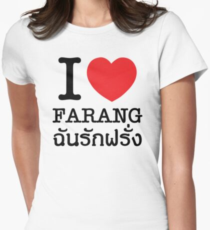 I Heart (Love) Farang Womens Fitted T-Shirt