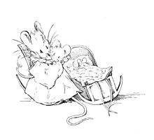 Beatrix Potter A Tale of 2 Bad Mice at Bedtime Photographic Print